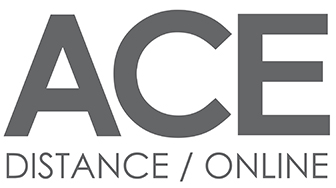 ACE Distance academic and career entrance logo