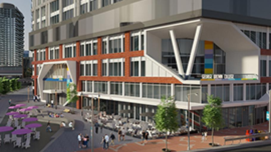 Artist's impression of the new Daniels building on the waterfront campus