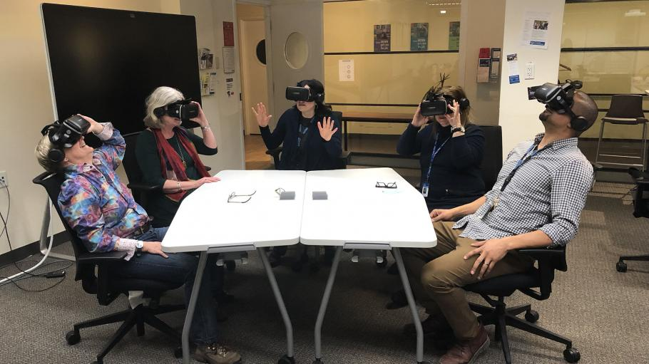 TLX team members using VR headsets