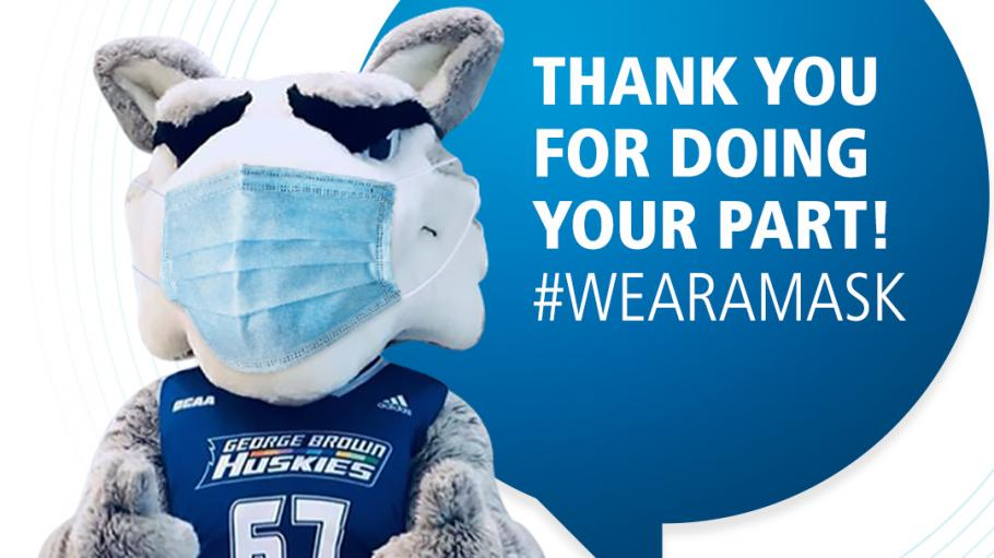 Thank you for doing your part #WearAMask - Helder the Husky