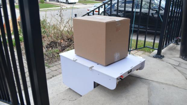 ROSA stair climbing robot moving box